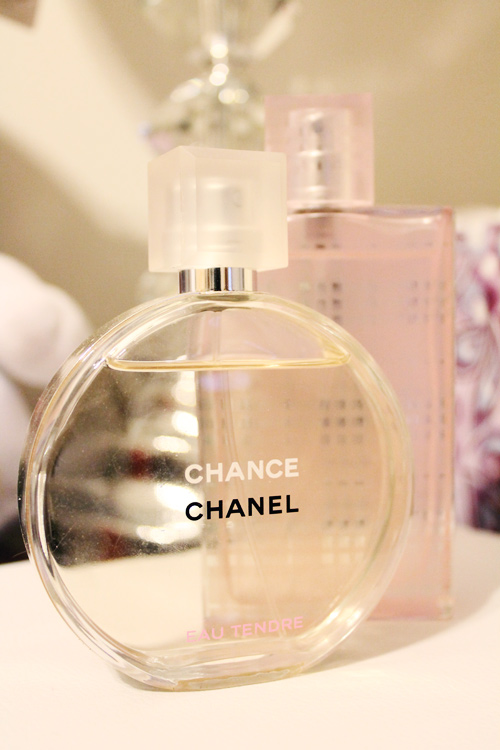 Chanel Chance Eau Tendre and Burberry Brit Sheer