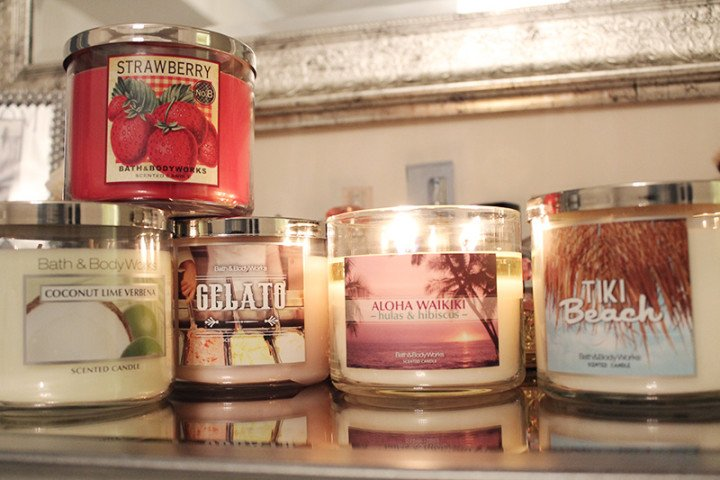 Bath and Body Works 3-wick candles - $8.80/each