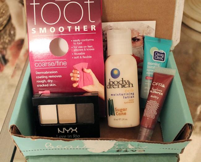 December 2013 BeautyBox 5 Open Box
