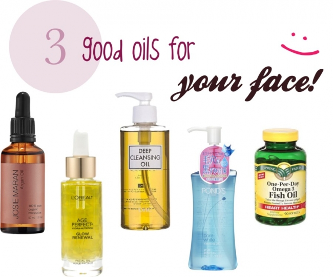 3 good oils for your face