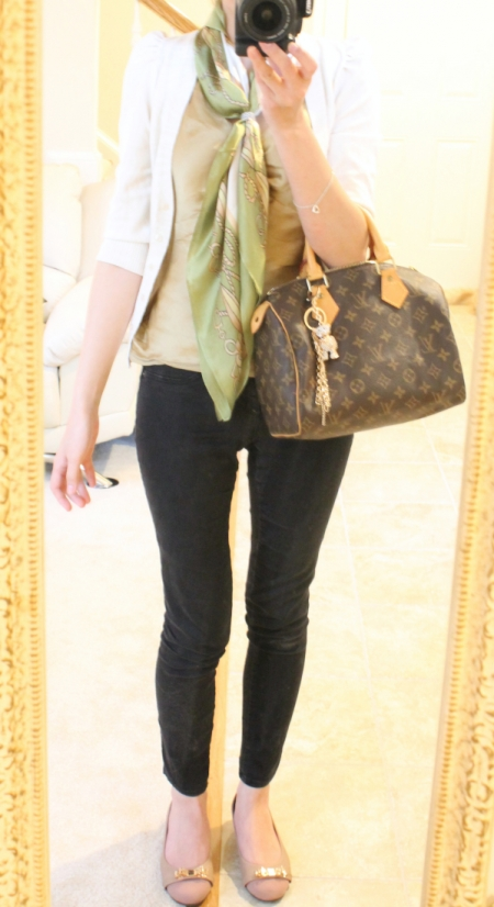 ootd: gold and green for spring
