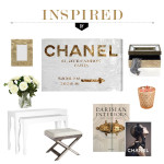 room decor inspired by Oliver Gal Chanel art