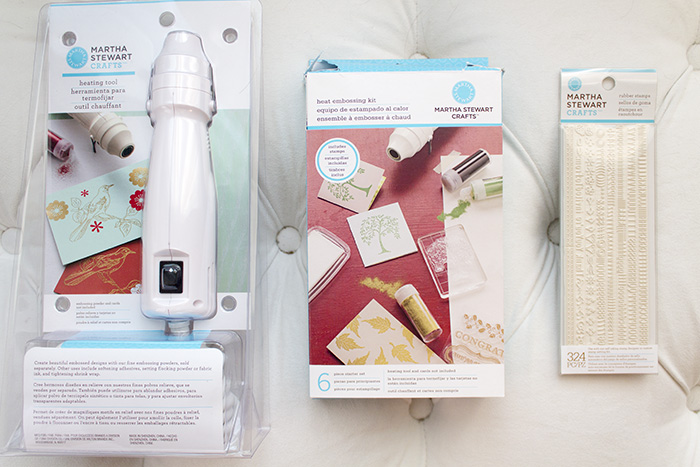 Michael's Martha Stewart Heat Embossing tools