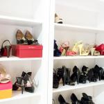 Shoe storage/display with the Ikea Hemnes shelves