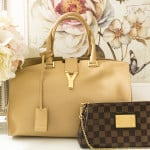 My Saint Laurent Classic Y Tote and LV Eva clutch