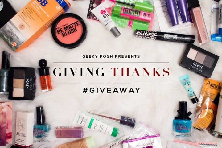 Geeky Posh Giving Thanks Giveaway