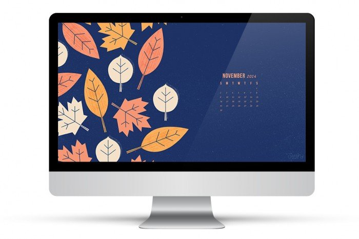 November desktop, iPad, and iPhone wallpaper from Sarah Hearts