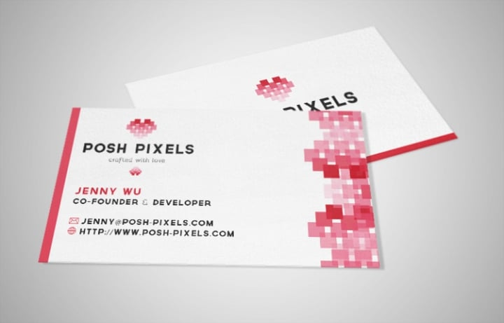 Posh Pixel Business Card // Geeky Posh
