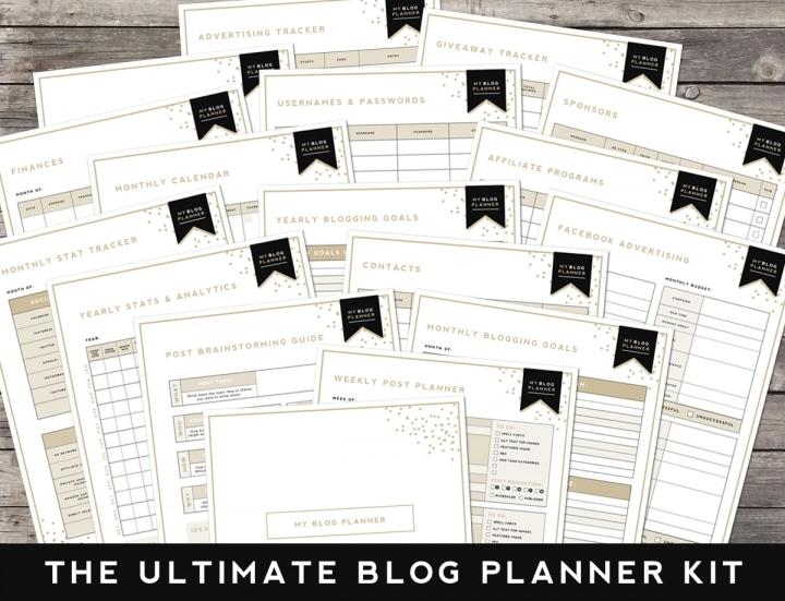 free blog planner kit by Designer Blogs