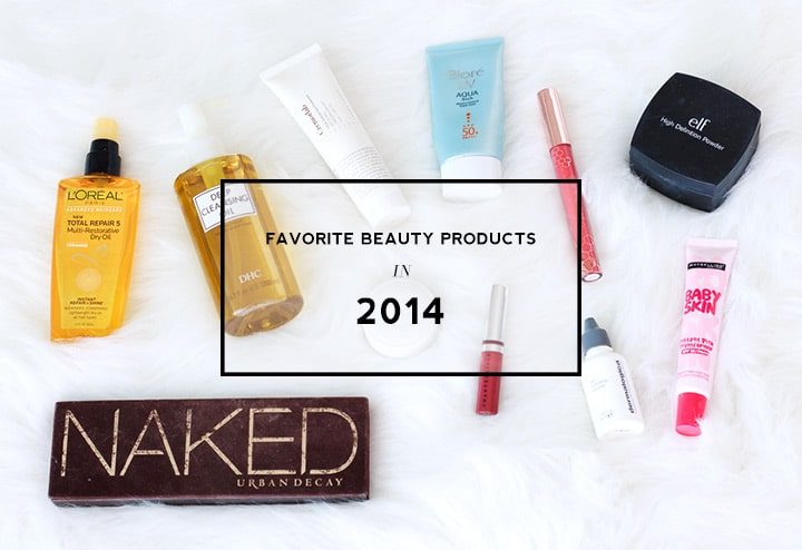 Favorite beauty products in 2014