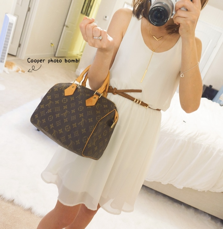 OOTD louis vuitton speedy 25 // Geeky Posh