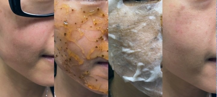 Sandwich masking with the DearPacker Black Tea & Black Rose Mask