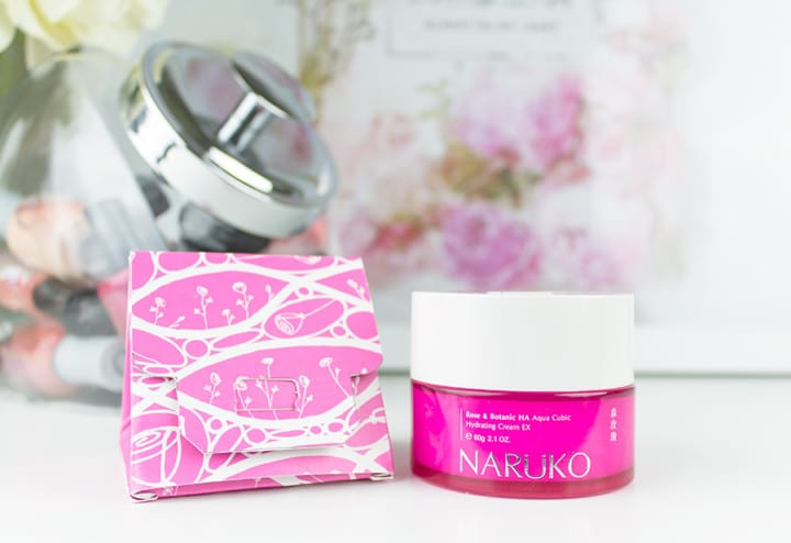 Naruko Rose & Botanic HA Aqua Cubic Hydrating Cream EX review // Geeky Posh