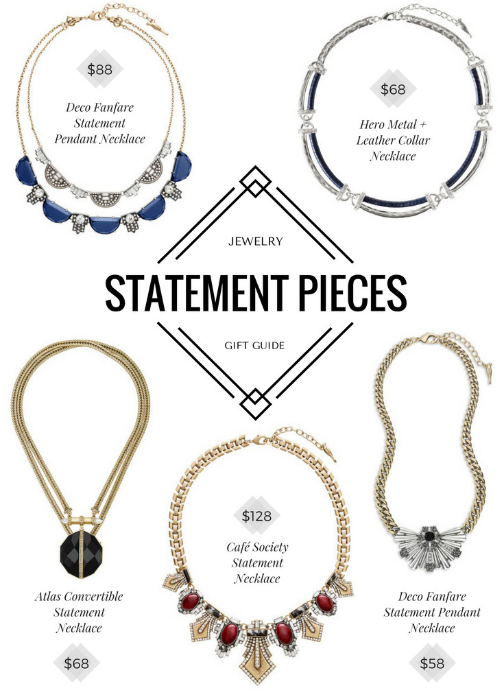Holiday jewelry gift guide - beautiful and affordable statement pieces