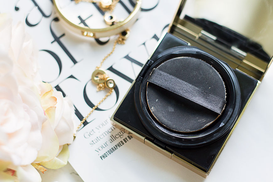 Glow on the go: the YSL Touche Éclat Cushion Foundation review + swatch