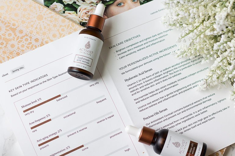 Customized eco-luxe serums with Activist Skincare