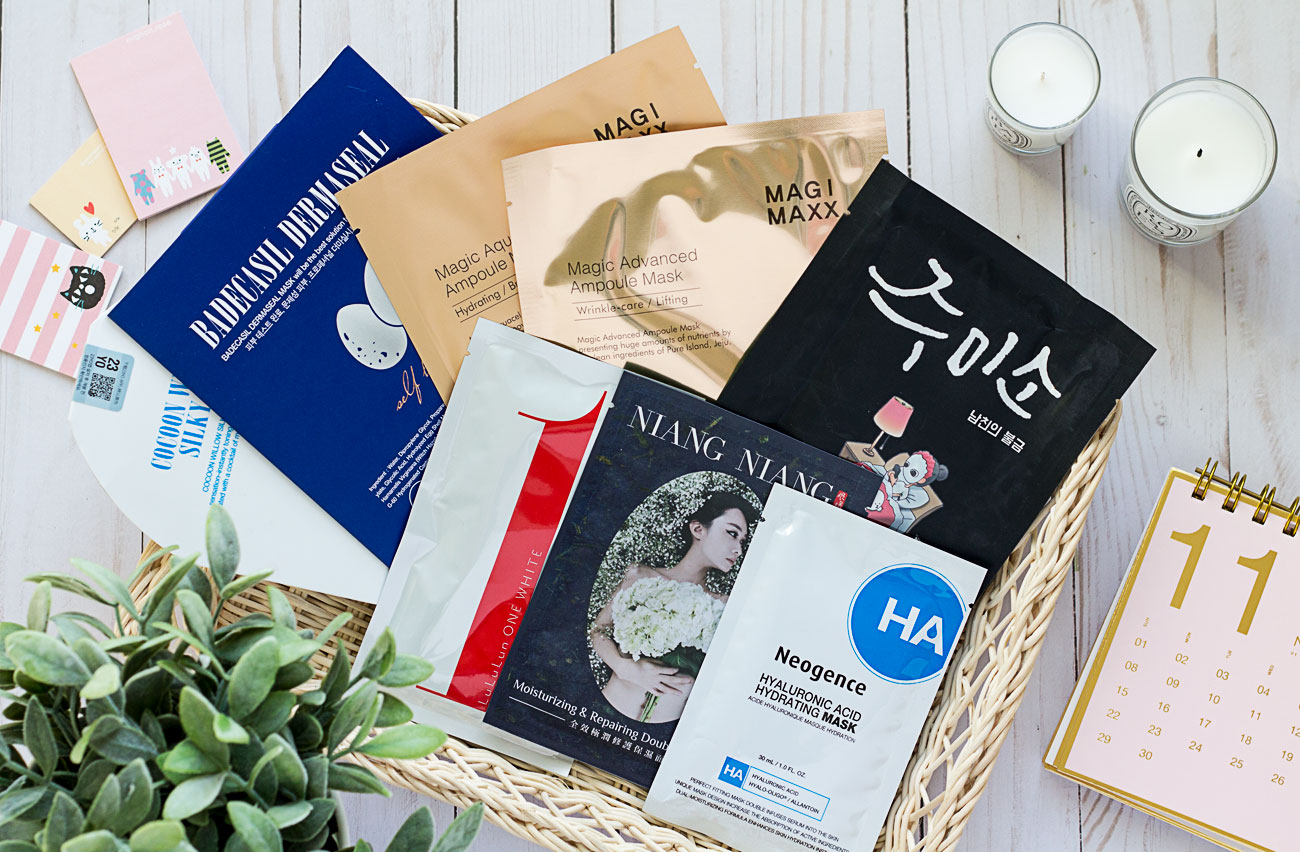 Recent sheet mask discoveries : 6 picks for dry winter skin