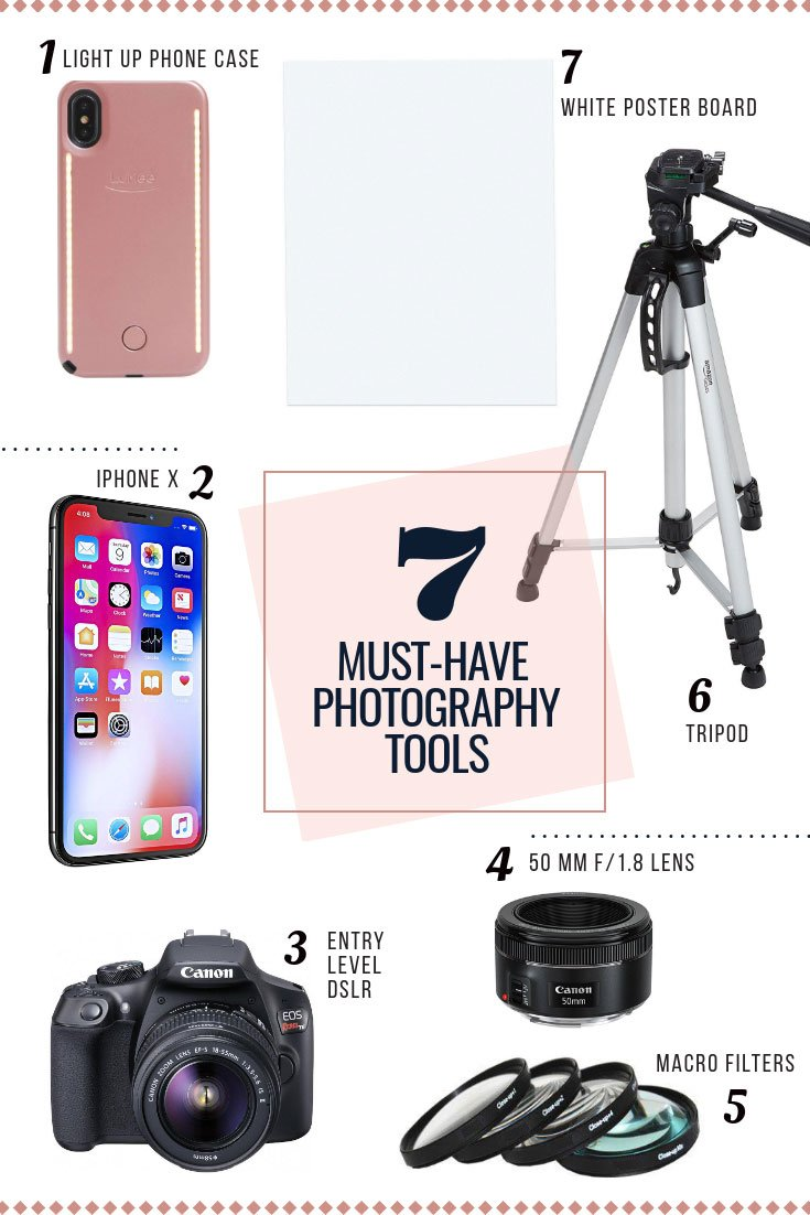 My photography equipment and tools