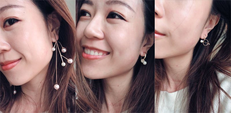 Geometric Gold + Pearl Earrings