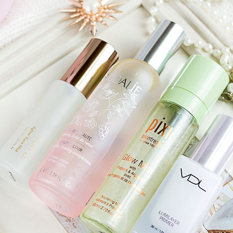 glowy makeup setting mists
