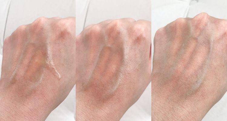 Peter Thomas Roth Pro Strength Retinoid Peptide Serum texture on skin