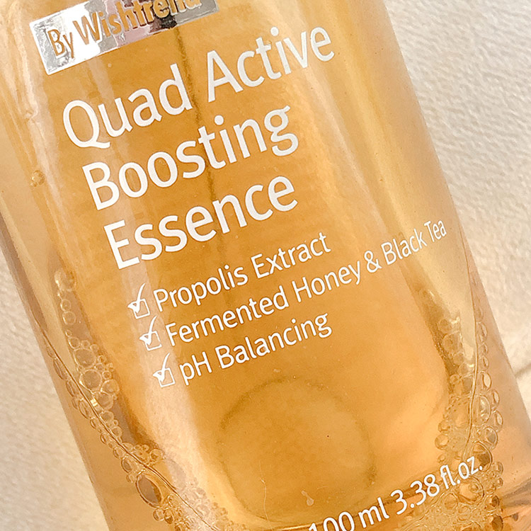 close up of the by wishtrend quad active boosting essence