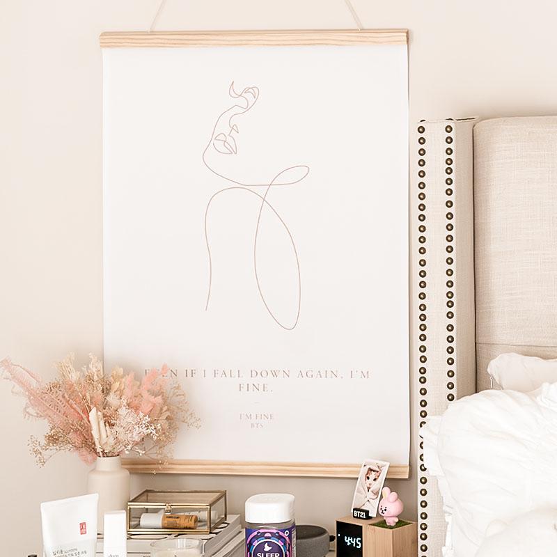mapiful line art bedroom